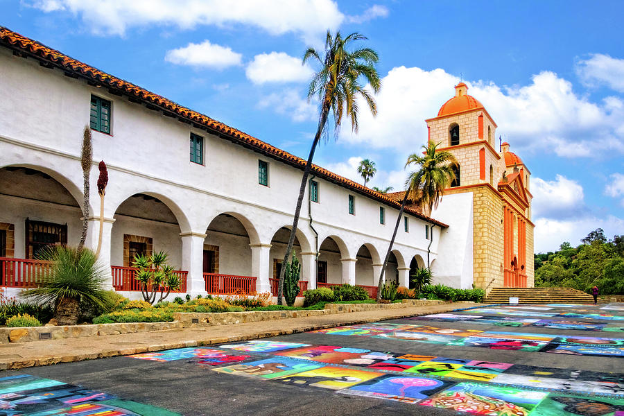 Chalk Art at Mission Santa Barbara by Carolyn Derstine
