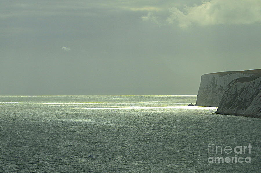 Sea Photograph - Chalk Cliffs by Andy Thompson