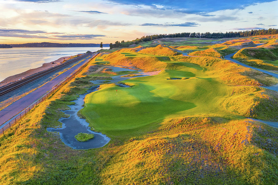 Chambers Bay Golf Course, Hole #17, 2019-3 by Mike Centioli