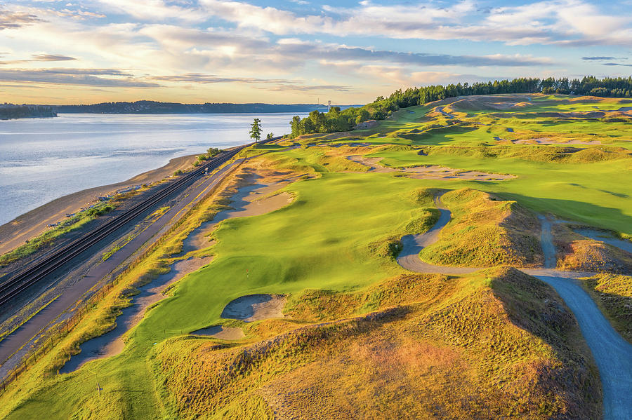 Chambers Bay, Hole #16, Beached by Mike Centioli