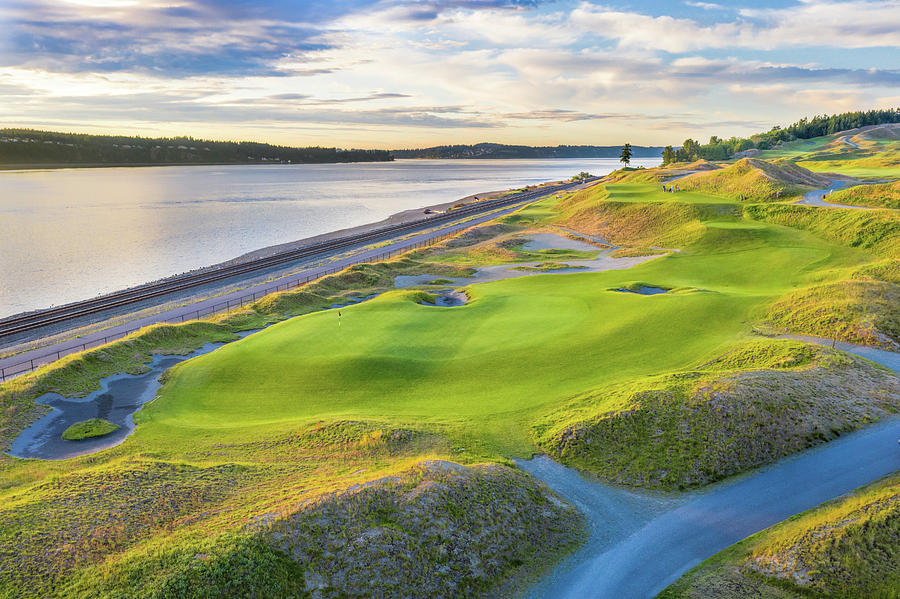 Chambers Bay Golf Course, Hole #17, 2019-1 by Mike Centioli