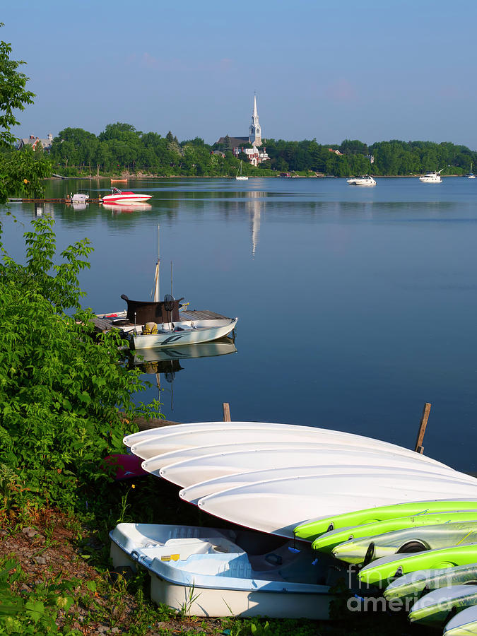 Church Photograph - Chambly Basin And The Church Of St Joseph In Quebec by Louise Heusinkveld