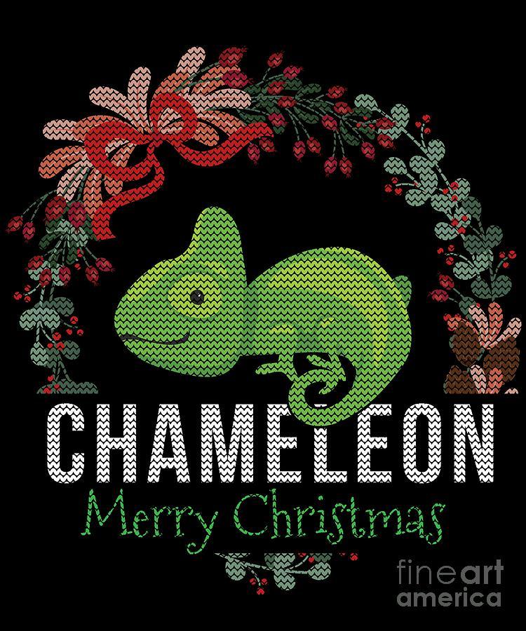 Ugly Christmas Sweater Design.Chameleon Ugly Christmas Sweater Design By Jose O