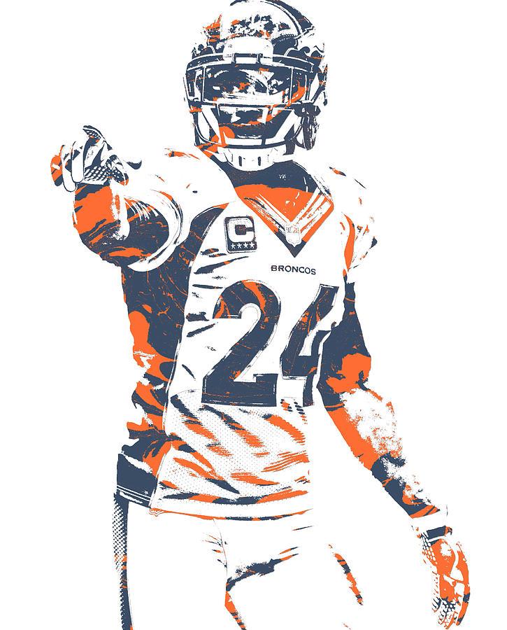 Champ Bailey Mixed Media - Champ Bailey Denver Broncos Pixel Art 11 by Joe Hamilton