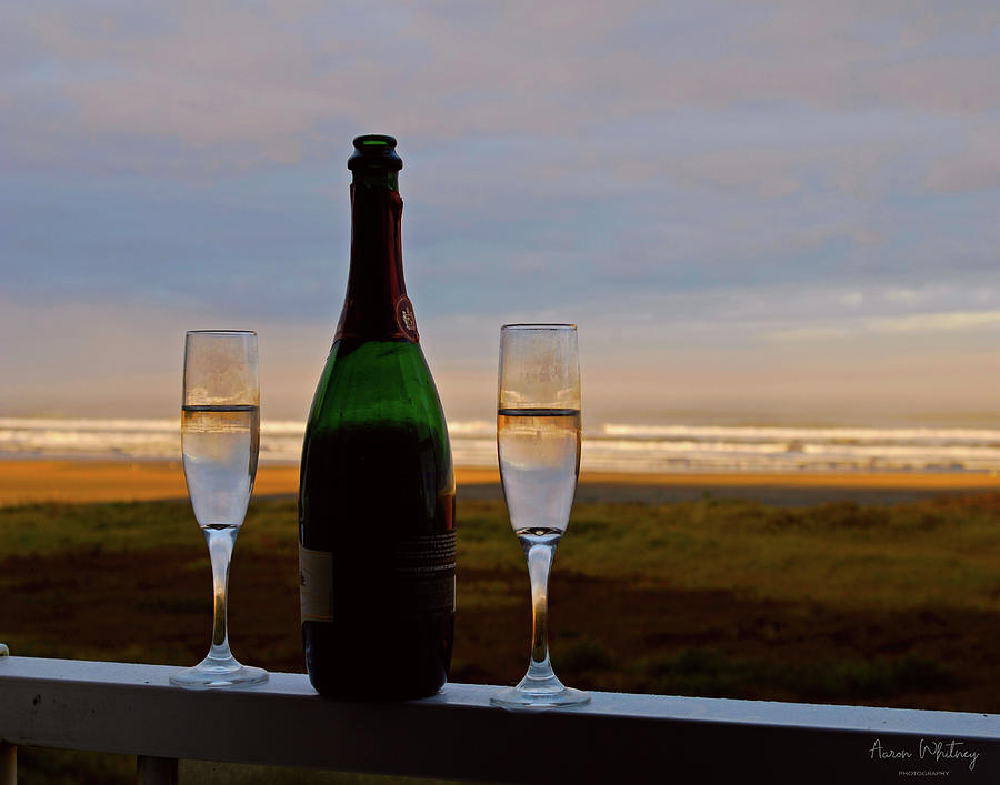 Champagne Photograph - Champagne At The Beach by Aaron Whitney