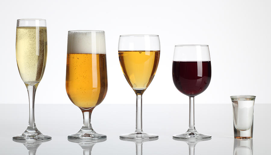 Champagne Beer Wine Spirits Photograph by Matooker