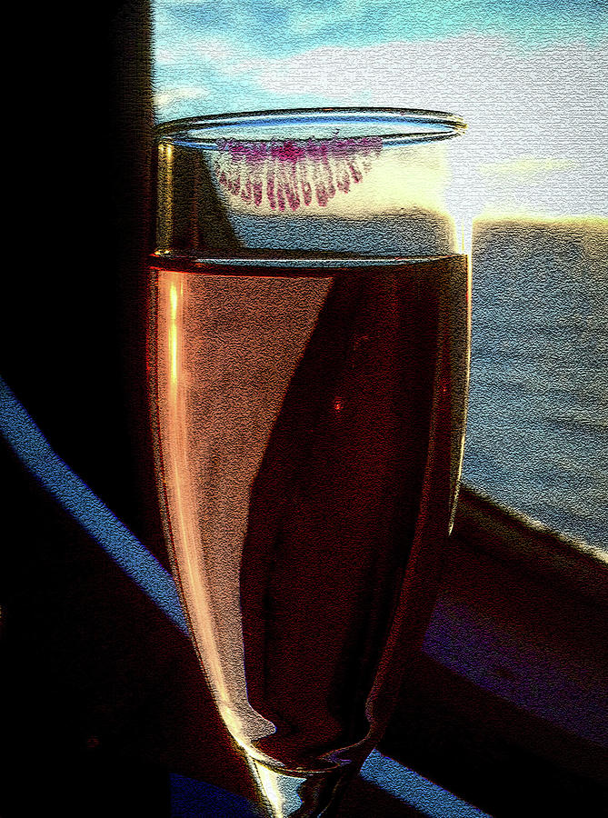 Champagne Glass Lipstick by Bill Swartwout Fine Art Photography