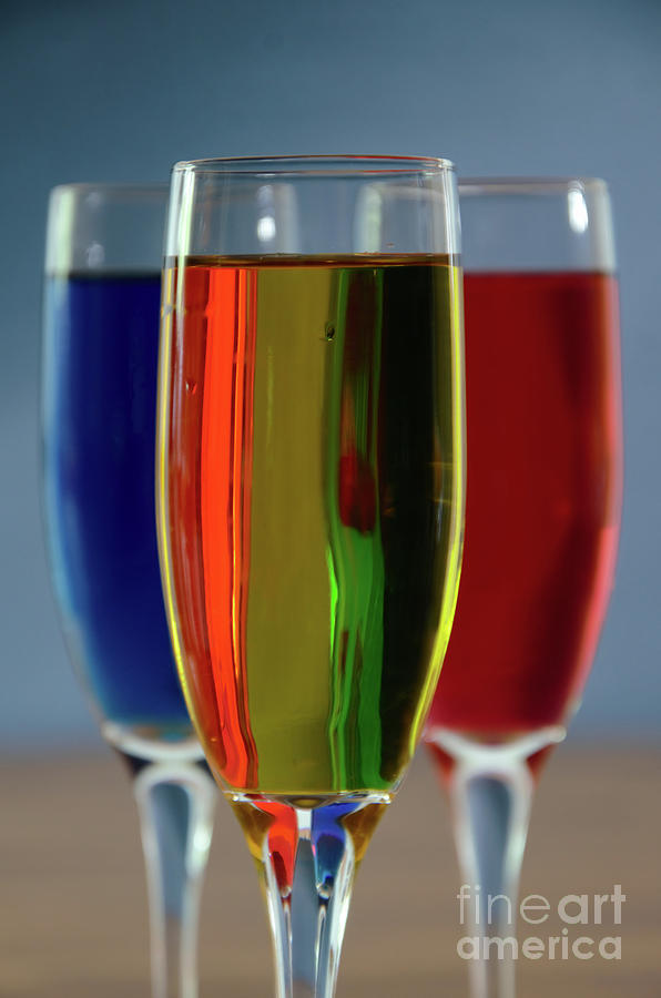 Champagne Glasses 2 by Steve Edwards