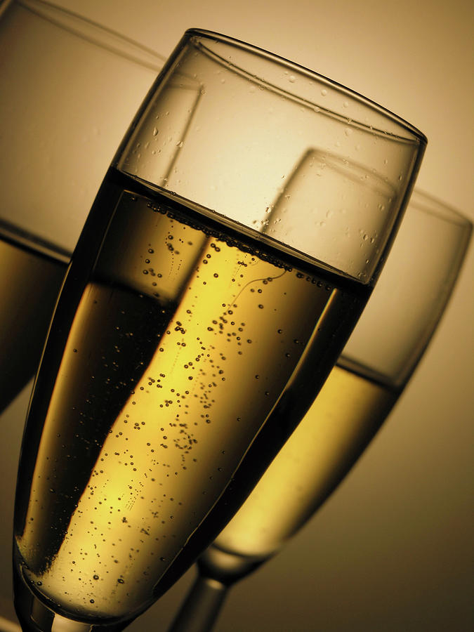 Champagne Glasses Drinks Photograph by Caracterdesign