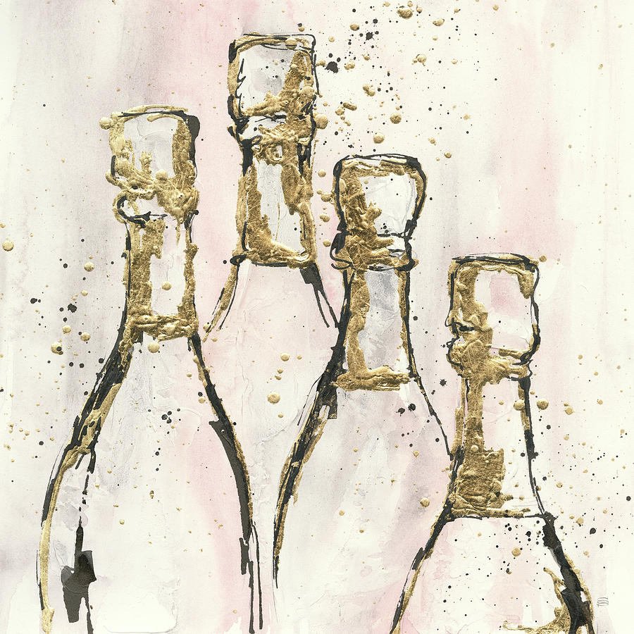 Alcohol Painting - Champagne Is Grand II by Chris Paschke