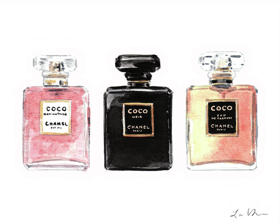 319b5b565 Chanel Coco Mademoiselle Perfumes Painting by Laura Row