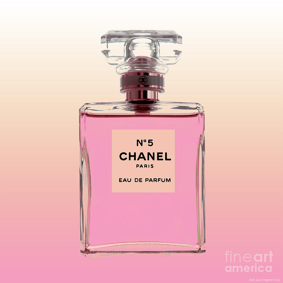 Chanel N0 5 - Pink background by Jean luc Comperat