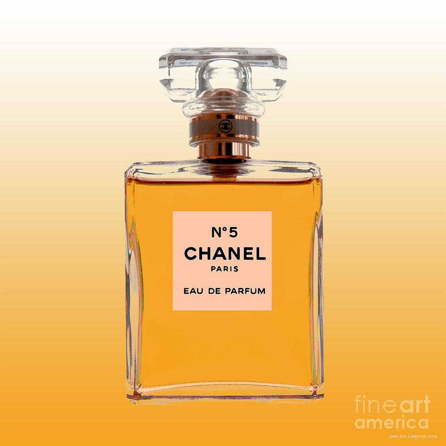 Chanel No 5 - Orange background by Jean luc Comperat