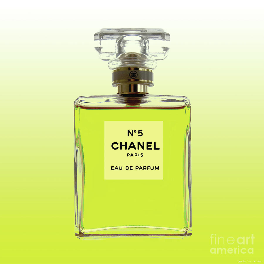 Chanel No 5 - Yellow citrus background by Jean luc Comperat