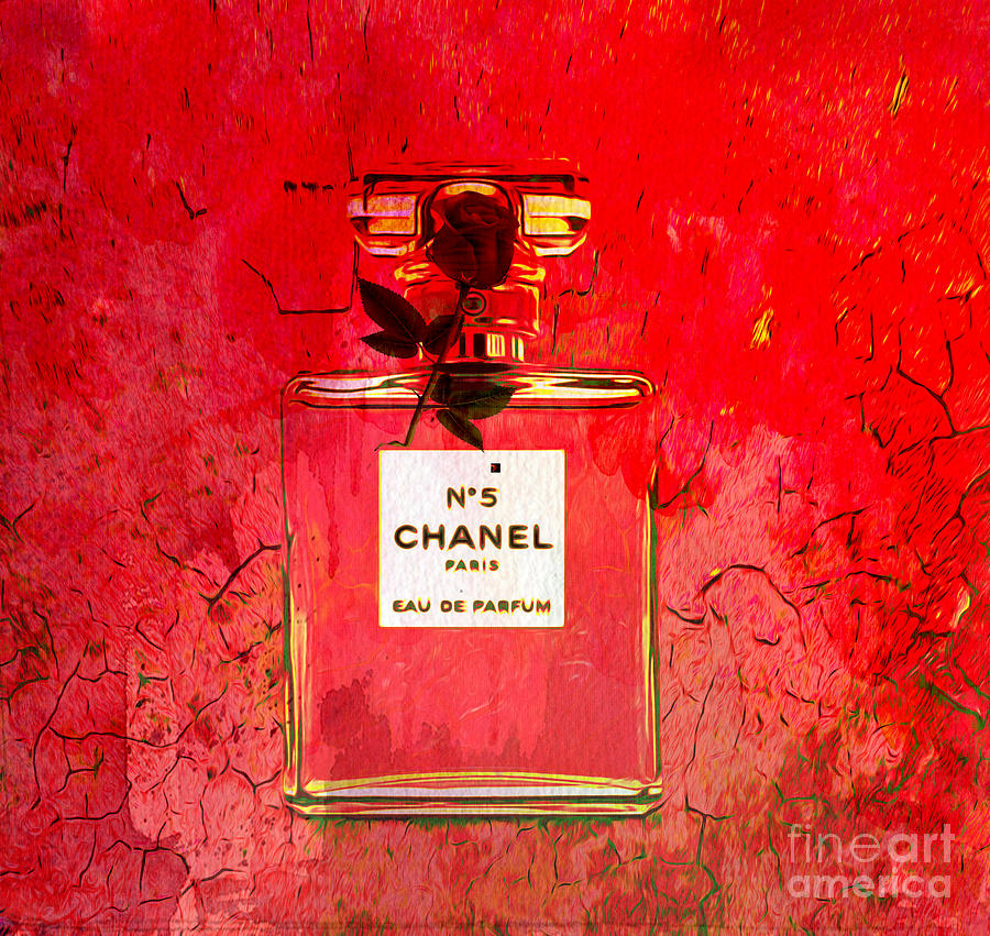 Chanel Mixed Media - Chanel Red by Beverly Guilliams