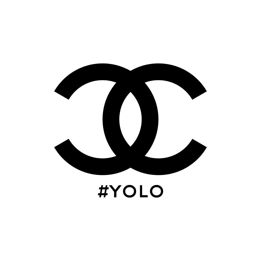 Chanel Painting - Chanel Yolo - You Only Live Once by Nikita
