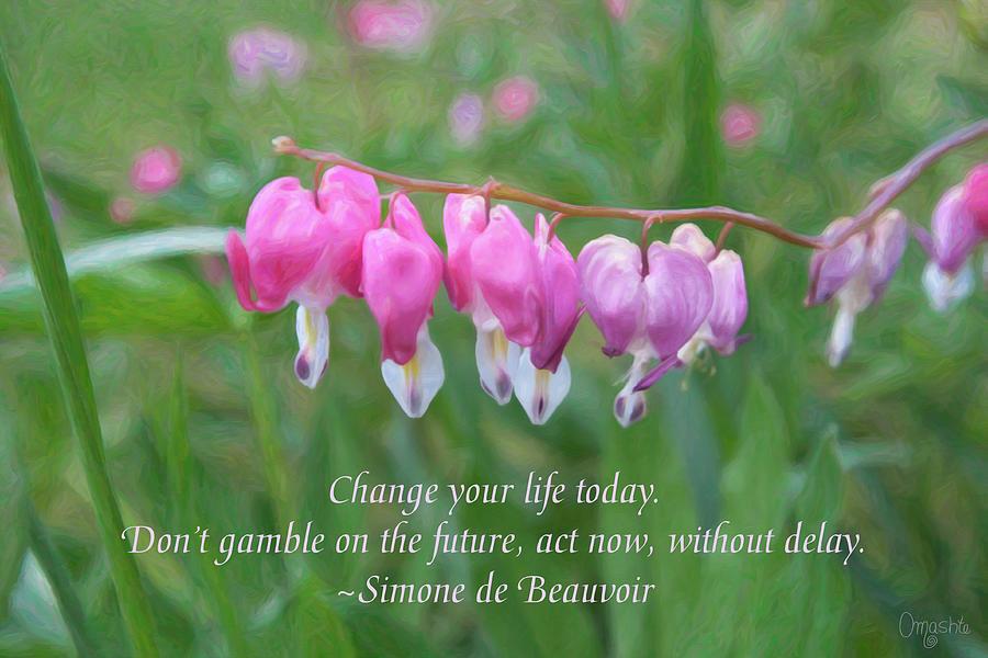 Changing Fortunes - Motivational Flower Art by Omaste Witkowski by Omaste Witkowski
