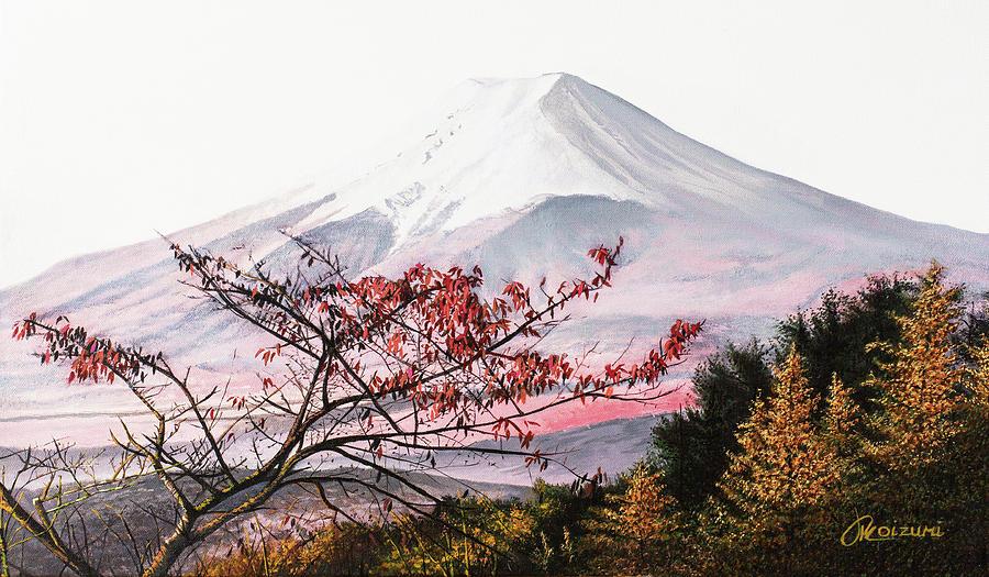 Fujisan Painting - Changing Seasons by Jason Koizumi