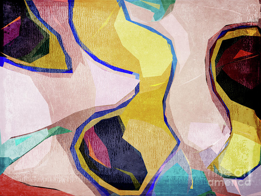 Chaos Digital Art - Chaotic Abstract Shapes by Phil Perkins