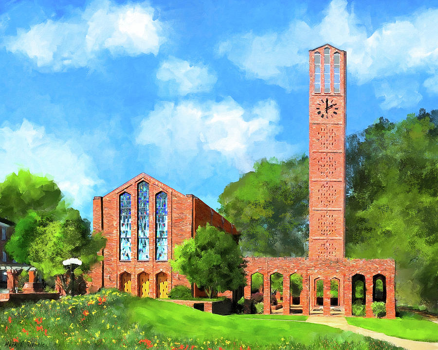 Mississippi State Mixed Media - Chapel Of Memories - Mississippi State by Mark Tisdale