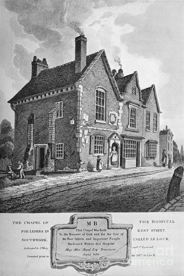 Chapel Of The Hospital For Lepers Drawing by Print Collector
