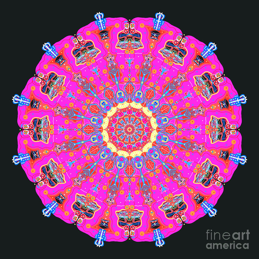 Characters Abstract Mandala by Catherine Lott