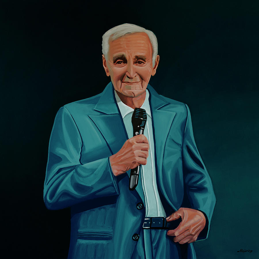 Charles Aznavour Painting by Paul Meijering