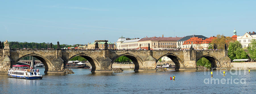 Charles Bridge in Prague by Les Palenik