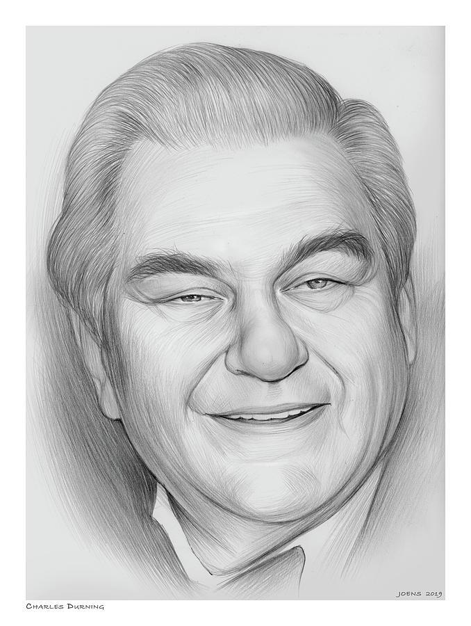 Charles Durning Drawing