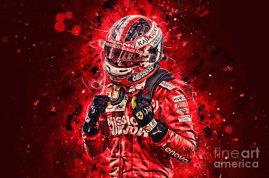 Charles Leclerc Abstract 2019 Painting By Roderick Voordouw