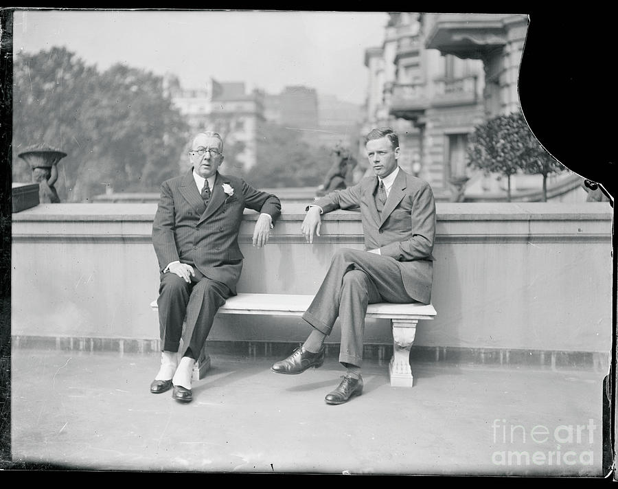 Charles Lindbergh Chatting Photograph by Bettmann