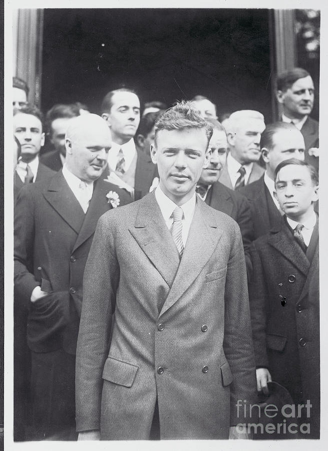 Charles Lindbergh Standing Photograph by Bettmann