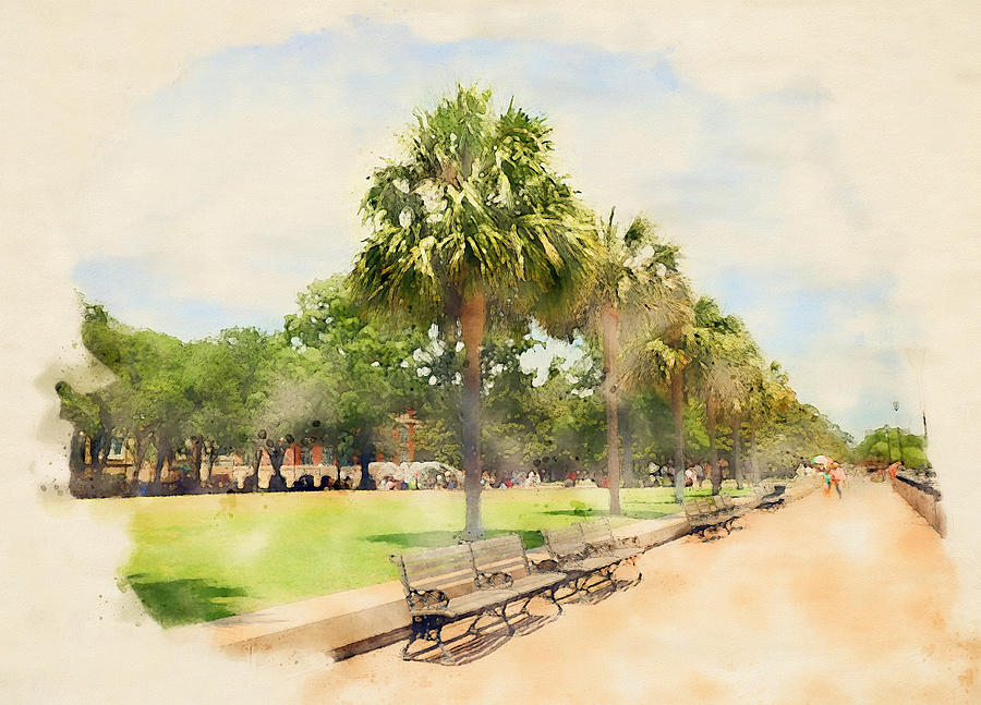 Charleston Battery Watercolor by Dan Sproul