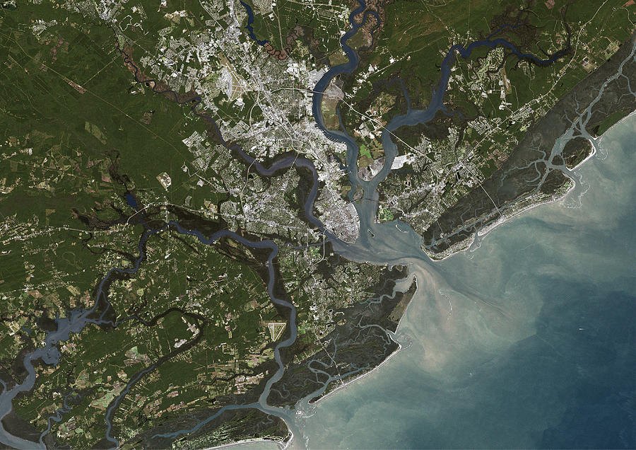 Charleston City, South Carolina, Us Photograph by Planet Observer