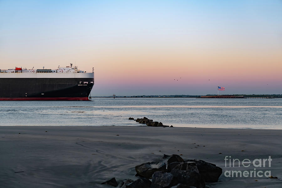 Charleston Harbor - Fort Sumter - Moving The Goods Photograph
