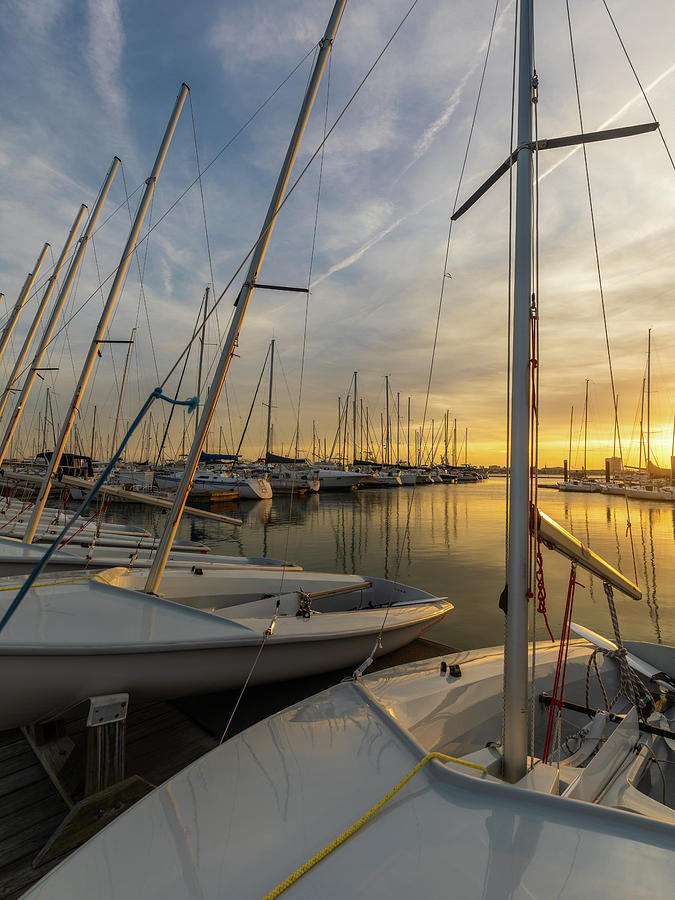 Charleston Harbor Resort and Marina Golden Hour by Donnie Whitaker