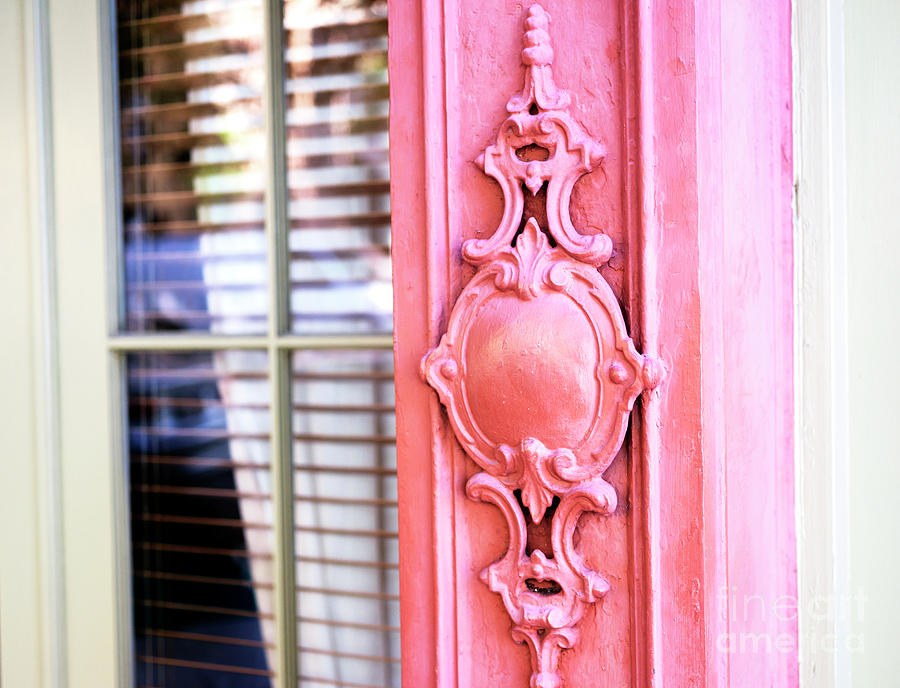 Pink Photograph - Charleston Rainbow Row Pink Details by John Rizzuto