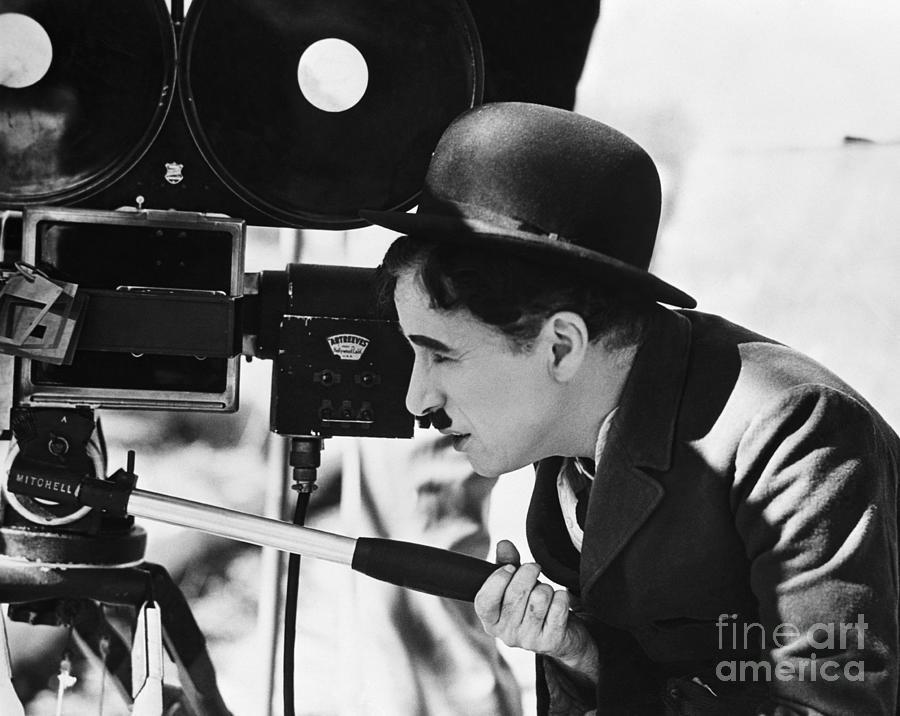 Charlie Chaplin Behind Movie Camera Photograph by Bettmann