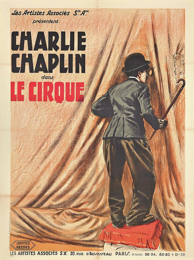 Circus Digital Art - Charlie Chaplin Dans Le Cirque - Vintage Advertising Poster by Siva Ganesh
