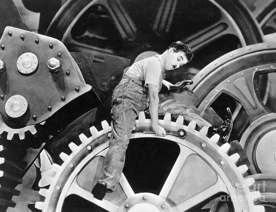 Charlie Chaplin In Modern Times, 1936 Photograph by Bettmann