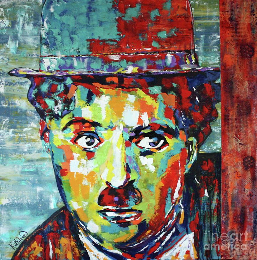 Charlie Chaplin Modern Times Painting