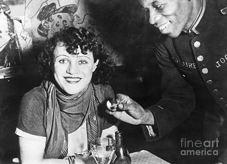 Charlotte Cobler At Parisian Cafe Photograph by Bettmann