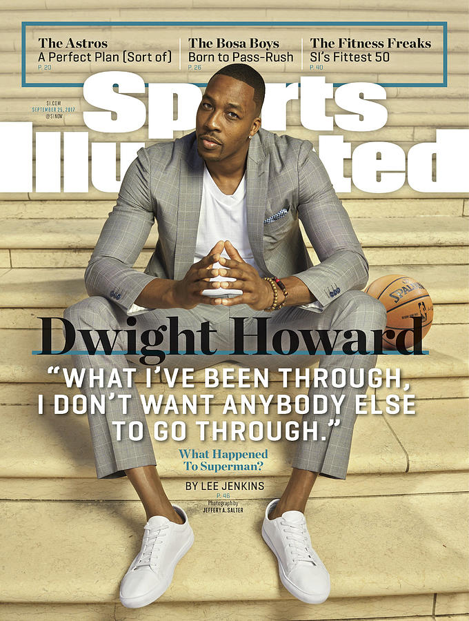 Charlotte Hornets Dwight Howard Sports Illustrated Cover Photograph by Sports Illustrated