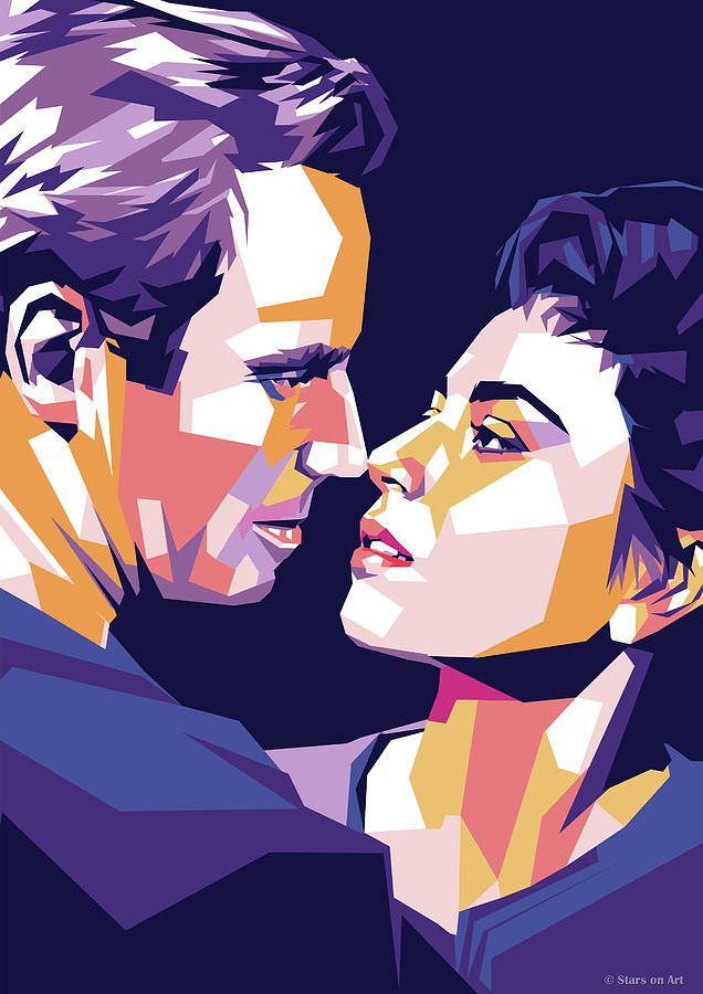 Charlton Heston And Haya Harareet Digital Art