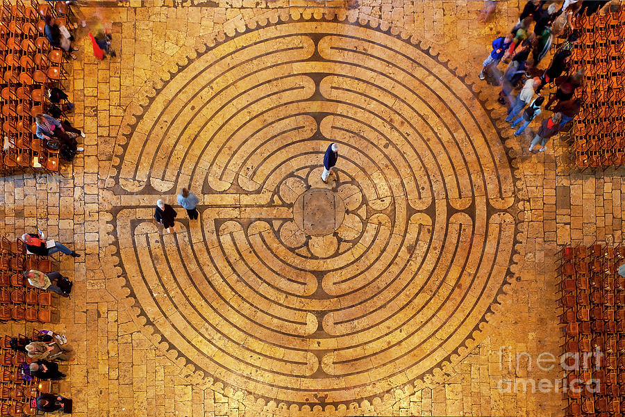 Chartres, Labyrinth Of The Cathedral Photograph by Sylvain Sonnet
