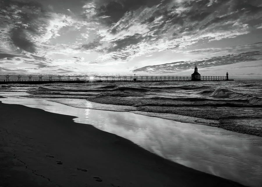 Chasing The Dream Black and White by Kathi Mirto