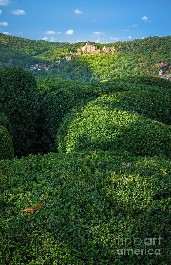 Dordogne Photograph - Chateau De Castelnaud From The Gardens by Inge Johnsson