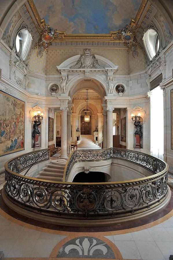 Chateau De Chantilly, Main Staircase Photograph by Beatrice Lecuyer Bibal