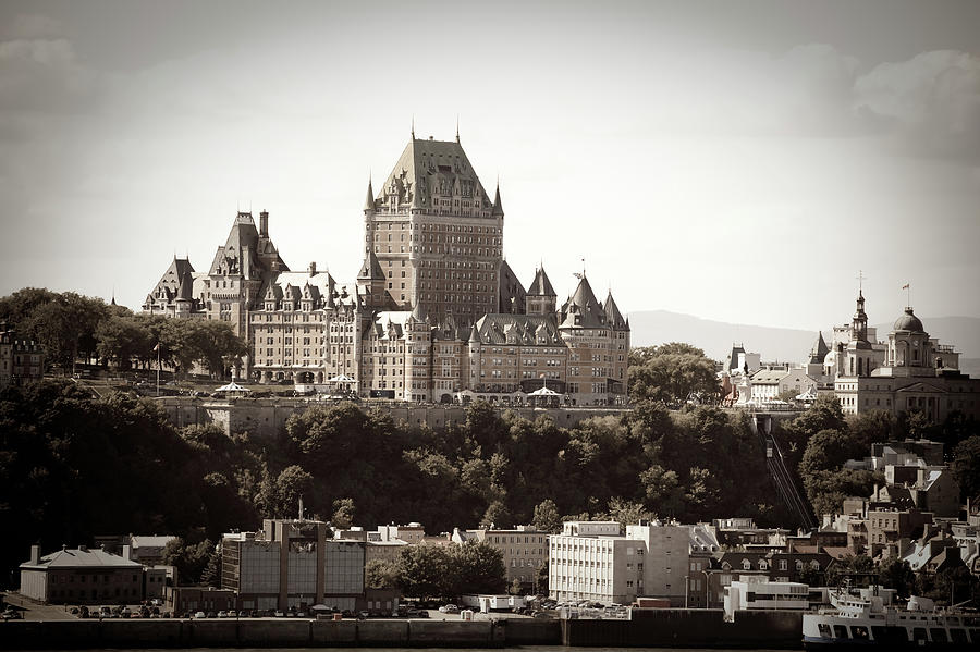 Chateau Frontenac From Levis, Quebec Photograph by Onfokus