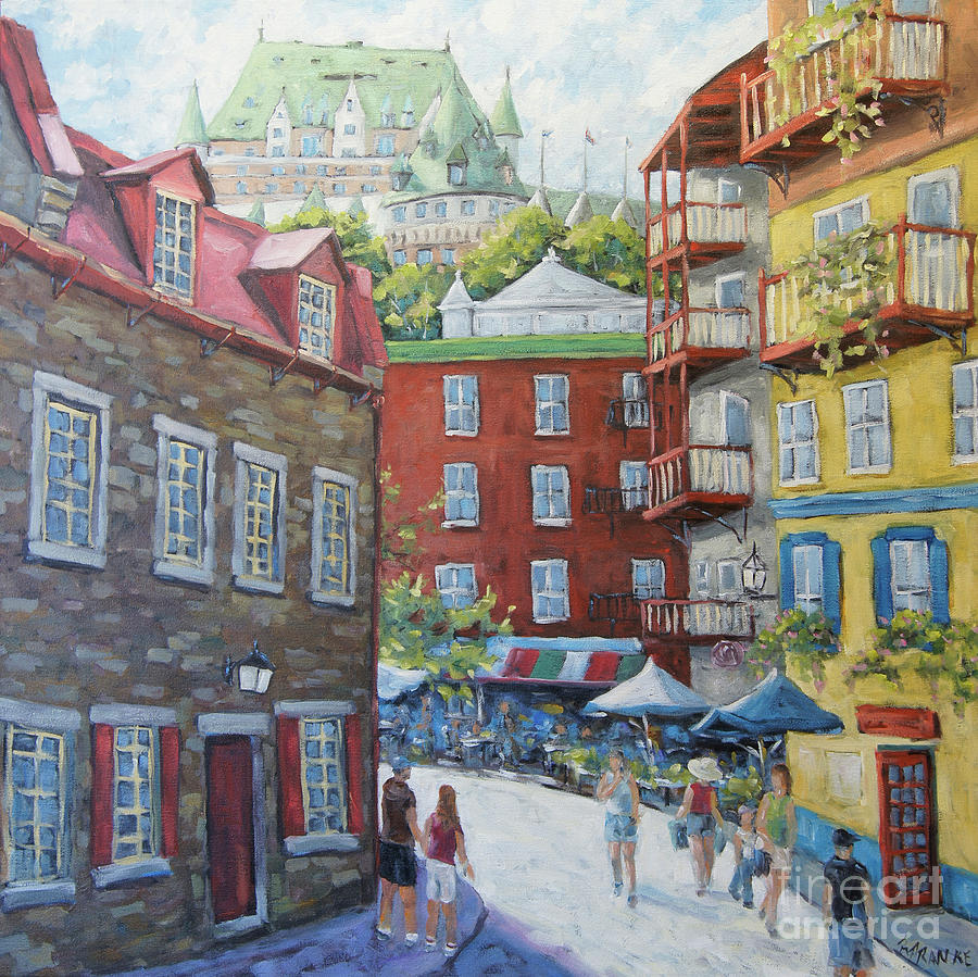Chateau Frontenac Lower Quebec by Richard Pranke by Richard T Pranke